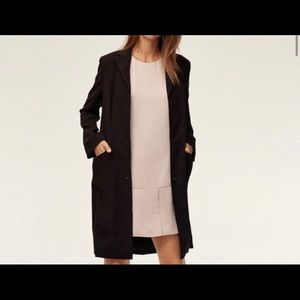 Babaton long blazer jacket sz 00 black